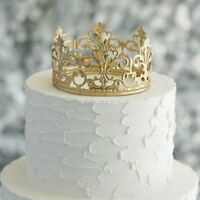 "4"" wide GOLD Royal Crown Cake Topper Party Centerpiece Decorations SALE"