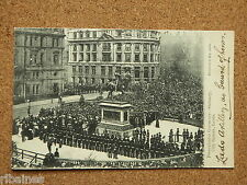 R&L Postcard: Presentation Ceremony Statuary City Square Leeds 1903