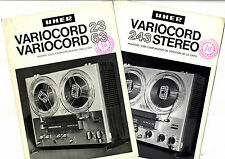 UHER - VARICORD 23 - 63 - 243 STEREO CATALOGOS ORIGINALES