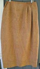 Talbots Byzantine Gold Metallic Orange SILK-Blend Maxi ALine Skirt 14W PLUS $129