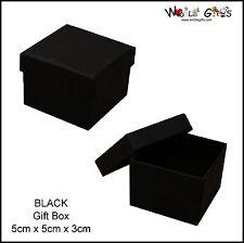 12 boîtes noires boucle d'oreille bijoux cadeau bague carré cases