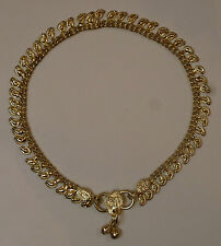 One Metal Gold Coloured Small Paisley Design Indian Made Anklet with Bells (AK4)