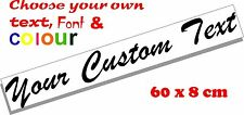 Custom text personalised message lettering vinyl decal sticker graphic 60x8cm