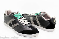 DIESEL Brand Men's Black Green Leather Lounge Fashion Casual Sneakers Shoes