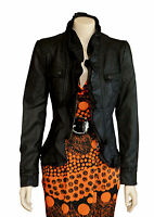 Caroline Morgan  Black  Leather Look  Jacket  SIZE 16   BRAND NEW