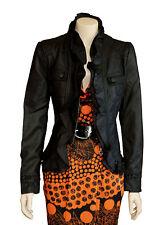 Caroline Morgan  Black  Leather Look  Jacket  SIZE 16   BRAND NEW