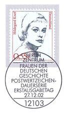 BRD 2002: Hildegard Knef nº 2296 con el Berliner primero etiquetas-sello especial! 1a!