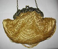 Ladies Evening bag Gold Bronze handbag shoulder bag weddings parties