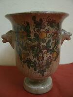 VASO Ceramica CERBELLA GUBBIO Due Facce Laterali h 15 cm