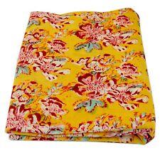 Indian Hand Block Printed Cotton Fabric 10 Yard Crafts Sewing Sanganeri Handmade
