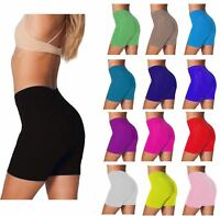 LADIES SHORTS COTTON LYCRA CYCLE CYCLING RUNNING CASUAL BLACK Size 8 12 14 16 24