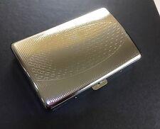 Super King Size Highly Polished Metal Cigarette Case BOX -Holds 16-18 Cigarettes