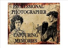 Professional Photographer Vintage  Sign Retro Antique Style Sign Wall Plaque