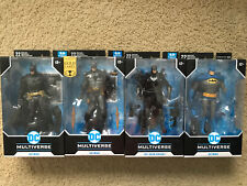 DC Multiverse McFarlane Batman Lot: Gold Label Arkham Blue Variant Grim Knight