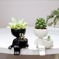Mini Succulent Plant Ceramic Pots, Cute Tiny People Design, Human Potted Plants