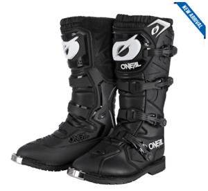ONEAL 2021 RIDER PRO BLACK BOOTS SIZE 12 (46) MX Motocross ON0335112