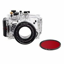 Meikon 40m Underwater Camera Housing Case For Sony DSC-RX100 III , Red Filter