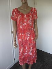 La Rochelle  tolles Kleid 40  rot geblümt  kurzarm