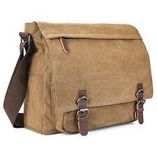 Men's Canvas Shoulder Messenger Bag,Aizbo Crossbody Day Bag Laptop Bag Satchel