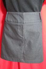 Portmans NWOTS Steel Grey Straight Tuxedo Style Mini Skirt Size 16 Club/Dinner