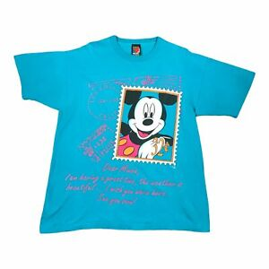 90s Vintage DISNEY MICKEY Mens T Shirt Large | Single Stitch Jerry Leigh