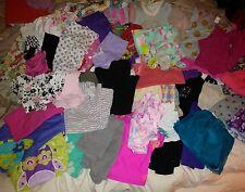 Girls size 3-4 mixed 49 pc lot dresses tops shorts skirts leggings pants pjs