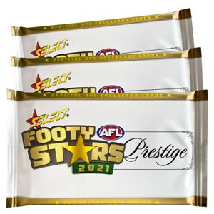 3 x 2021 AFL Select Prestige Premium Sealed Packs - Unsearched
