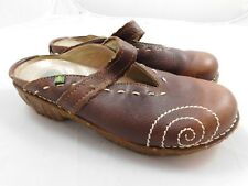 El Natura Lista Women's Yggdrasil Shoes  37  7  Brown Clogs NG96