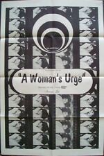 ANDREA A WOMAN'S URGE one sheet movie poster 27x41 1968 DAGMAR LASSANDER
