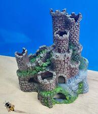 Aquarium Ornament Castle Ruins Tower Rock Fish Tank Decoration New