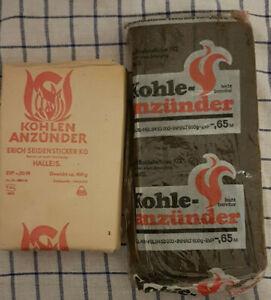 original DDR Kohleanzünder 2 verschiedene im Set Kamin Anzünder OVP