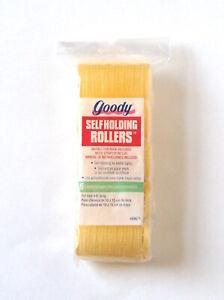 Vintage 1995 Goody 5 Large Self-Holding Hair Rollers, Yellow, NIP