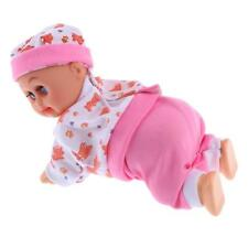 "8"" Baby Doll Crawling Cry Laugh Early Learning Education Nurturing Toys Pink"
