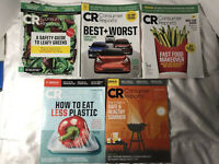 Consumer Reports Magazine Lot March 20, April 20, May 20, June 20 July 20