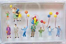 HO Preiser 24659-1 MAN SELLING BALLOONS * CIRCUS * Funfair Carnival FIGURES