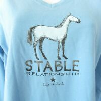 New Life Is Good Horse Stable Relationship XS Crusher T Shirt Long Sleeve