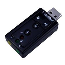AudioBLUE- USB 2.0 External Sound Card Adapter- 480Mbs-3D Virtual 7.1 Channel