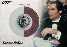 James Bond Complete, Licence To Kill Casino Chip Authentic Relic Card RC6