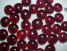 100 Pcs Cranberry Flat Glass Marbles Gems, Vase Fillers, Mosaic Tiles $3.99!