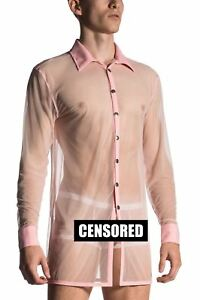 MANstore Men's M660 Brit Shirt Designer Transparent See Through Smart Twist