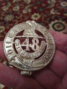 48th Highlanders Pre WW1 Glengarry Cap Badge, Canadian Militia