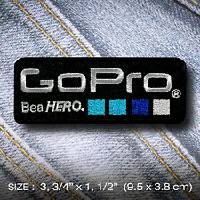 Go Pro PATCH IRON ON Clothes Jacket Denim Hat Cap DIY Accessory Camera Adventure
