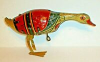 Antique 1924 Tin Litho Wind-Up Pecking Goose (Rare) Missing Foot Vintage