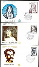 Monaco 6 FDC Renoir, Strauss, Ange, Sisley, Honore, Chantal FREE Shipping U. S.