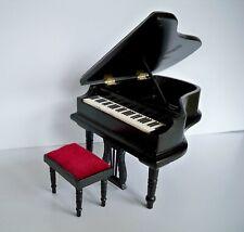 1:12 - Dekoratives  Piano / Flügel - Schwarz - Puppenhaus Miniatur