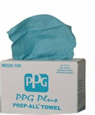 PPG MD25-100 Blue Prep All Lint Free Rags Auto Body Shop Towels-100 Per Box