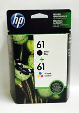 HP GENUINE 61 2-pk Black & Color Ink Cartridges In Retail Box EXP 2018