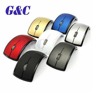 10m 1600dpi Folding wireless mouse arc gaming mouse optical gift RGB