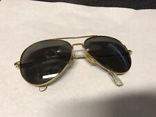 70s 80s Vintage Aviator Sunglasses 23k Usa Made 14 58 - Free Shipping