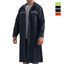 Mens Waterproof Reusable Raincoat Outdoor Active PVC Lightweight Poncho Rainwear